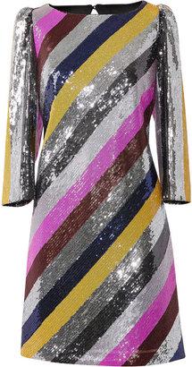 Milly Elaine Stripe Sequin Dress