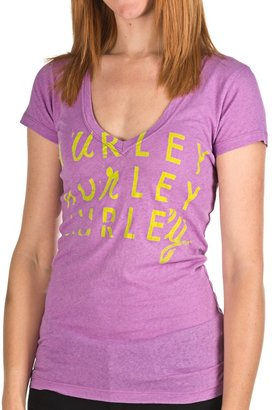 Hurley @Model.CurrentBrand.Name Gurley T-Shirt - V-Neck, Short Sleeve (For Women)