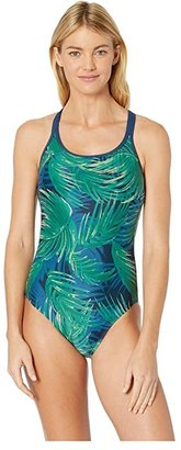 Carve Designs Beacon Full Piece (Azul Palms) Women's Swimsuits One Piece