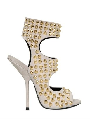 Giuseppe Zanotti 130mm Studded Suede Boot Sandals