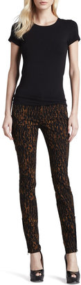 7 For All Mankind Leopard-Print Skinny Jeans