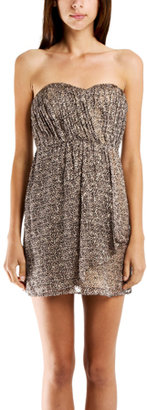 Twelfth St. By Cynthia Vincent Cynthia Vincent Strapless Party Dress in Leopard
