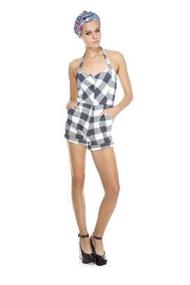 Marc by Marc Jacobs Harry Checked Thermal Jumpsuit
