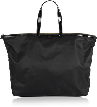 Anya Hindmarch Gym patent leather-trimmed tote