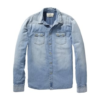Scotch & Soda Scotch and Soda - Men's Denim Western Shirt - Dessin A