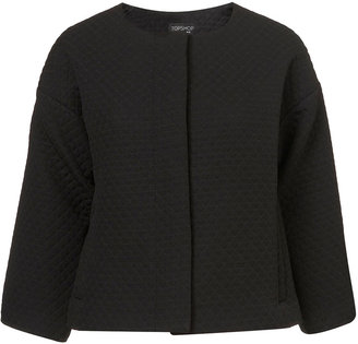 Topshop Quilted Ovoid Crop Jacket