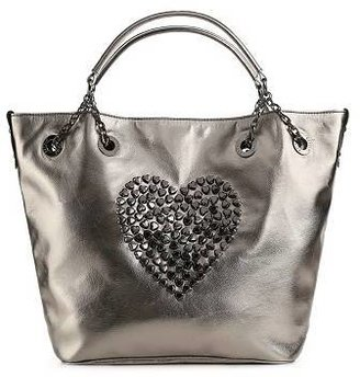 Betsey Johnson Heart Attack Studded Tote