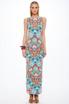 Mara Hoffman Astrodreamer Lattice Back Maxi Dress in Turquoise $253 thestylecure.com