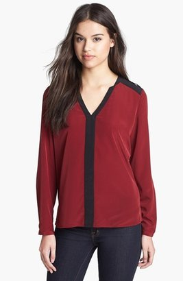 Vince Camuto Epaulet Colorblock Blouse (Online Only)