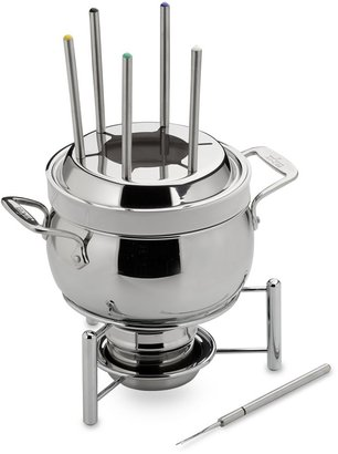 All-Clad Stainless Steel 3-Quart Fondue Pot with Ceramic Insert