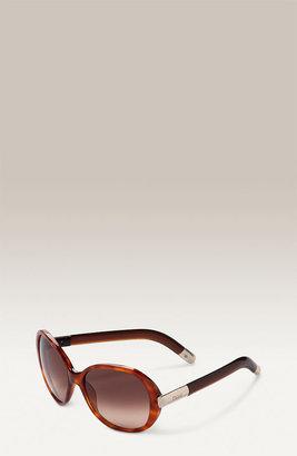 Chloé 'Saskia' Oversized Frame Sunglasses
