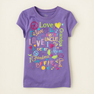 Children's Place Family text graphic tee