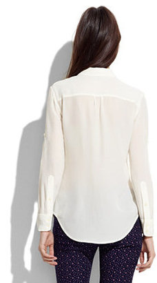 Madewell Solid Silk Boyshirt