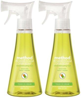 Method Products Power Dish Foam, Lemon Mint, 16 oz, 2 ct