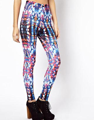Asos Exclusive Disco Pants In Streetlight Print