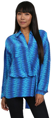Tracy Reese Striped Blouse in Blue