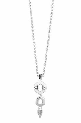 Palladium Belle Noel by Kim Kardashian Honey Hexagon Drop Necklace