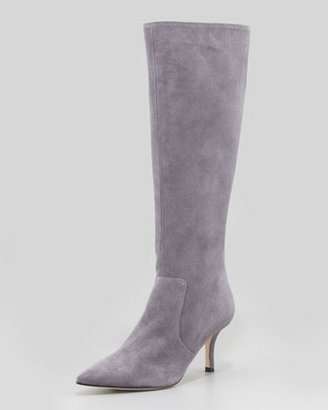 Kate Spade Pointy Stretch Suede Knee Boot, London Gray