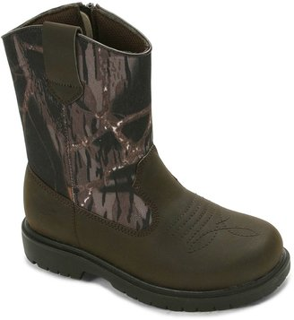 Deer Stags Tour Boys' Camouflage Waterproof Boots