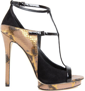 Brian Atwood Campisa T-Strap Pump in Gold