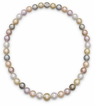 Tara Pearls Natural Multicolor Freshwater, Tahitian, White South Sea and Gold South Sea Cultured Pearl Strand Necklace, 17""