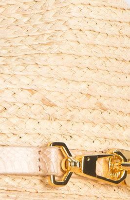 Rachel Zoe Woven Fedora Black/ Gold One Size