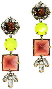 J.Crew Glass mix earrings