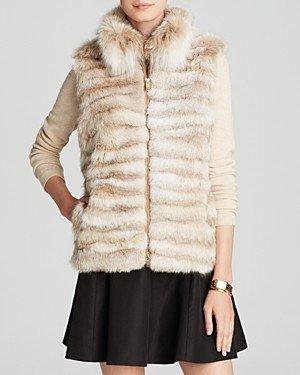 Maximilian Furs Maximilian Lynx Fur Vest with Stand Collar - 100% Exclusive