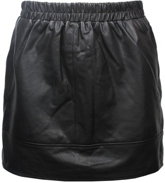 Vanessa Bruno athé by Short Leather Skirt