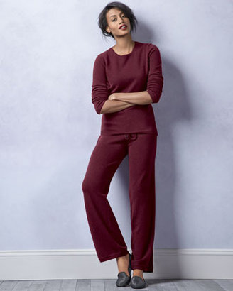 Neiman Marcus Cashmere Sweater & Yoga Pants