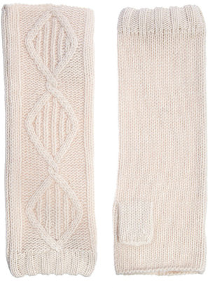 Alice Hannah Angora & Lambswool Blend Classic Cable Arm Warmer