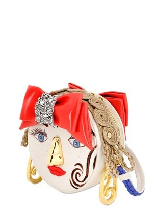 Girl Face Hand Painted Nappa Leather Bag