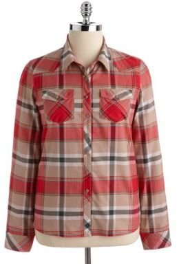 GUESS Plaid Button-Down Cotton Shirt