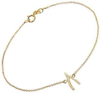 Jennifer Meyer Diamond Wishbone Bracelet - Yellow Gold