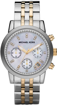 Michael Kors Two-Tone Chronograph Watch