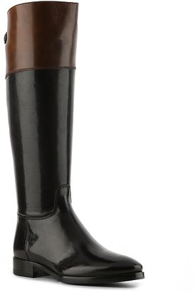 Santoni Leather Riding Boot