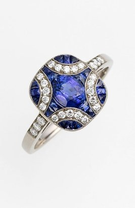 Kwiat 'Vintage' Blue Sapphire & Diamond Ring