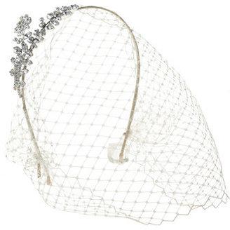 J.Crew Jennifer Behr crystal birdcage veil