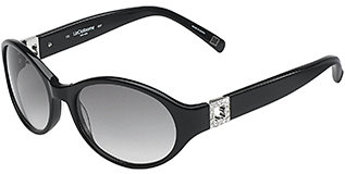 Liz Claiborne Cat Eye Sunglasses - Black