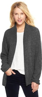 Gap Tuck-stitch open-front cardigan
