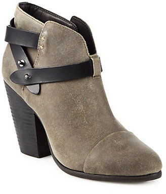 Rag and Bone Rag & Bone Harrow Wax Suede Ankle Boots