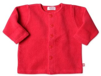 Zutano Infant Unisex-Baby Fleece Jacket, Red, 6 Months