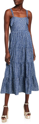 LIKELY Kimber Tiered Midi Dress w/ Matching Face Mask