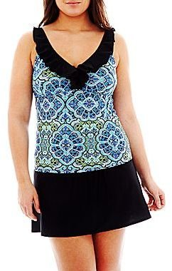 JCPenney St. John's Bay® Ruffled Tankini Swim Top or Skirted Bottoms - Plus