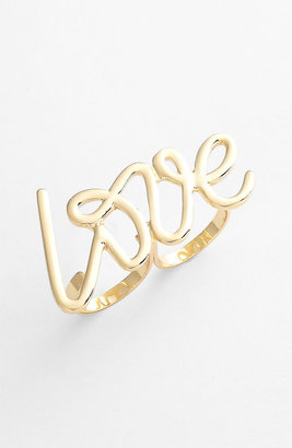 Spring Street Design Group Spring Street 'Love' Double Ring