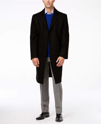 London Fog Big and Tall Signature Wool-Blend Overcoat