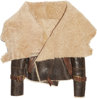 Karl Donoghue Shearling and leather aviator jacket