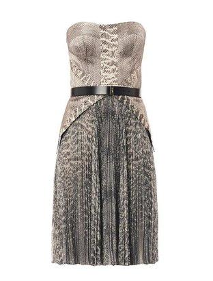Jason Wu Snake-print strapless dress
