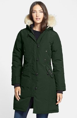 Women's Canada Goose Kensington Slim Fit Down Parka With Genuine Coyote Fur Trim $895 thestylecure.com