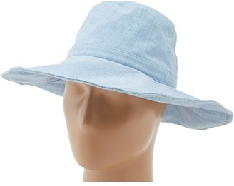 Hat Attack Canvas Sunhat with Wire in the Brim (Chambray) - Hats
